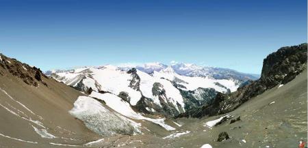 Aconcagua - Vue du col entre camp 1 et camp 2